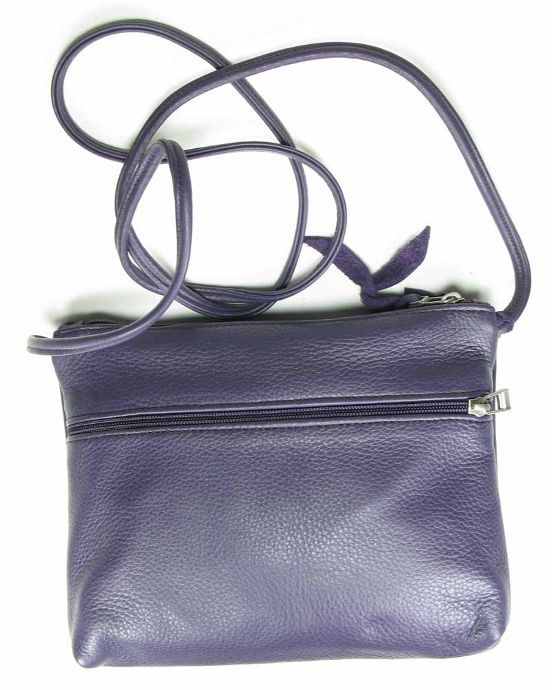 Leather Handbag in Aubergine